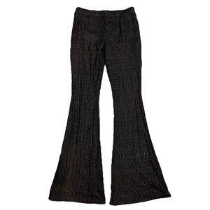 Joe B bell bottom lace pants boho built in shorts
